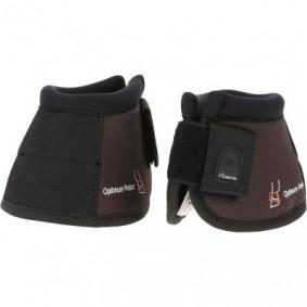 Beenbescherming - kopen - 2 open springschoenen pony/paard Optimum Protect bruin