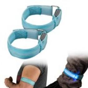 Veiligheidsartikelen - Reflectie - kopen - 2 stuks LED armband veiligheidslicht blauw