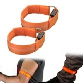 Veiligheidsartikelen - Reflectie - kopen - 2 stuks LED armband veiligheidslicht oranje