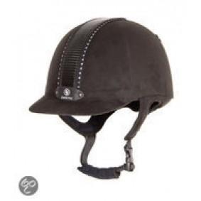 Paardrijkleding - Caps - kopen - BR Rijhelm Safety Zenith swarovski – Bruin – 59