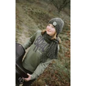 Paardrijkleding - Caps - kopen - BR Sweater 4-u Tieners Capulet Olive 140
