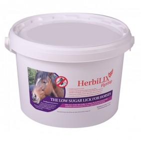 Onderhoud en Verzorging - Paardensnoepjes en Likstenen - kopen - Brinicombe HerbiLIX Vliegenstop voor Paarden – 20 kg
