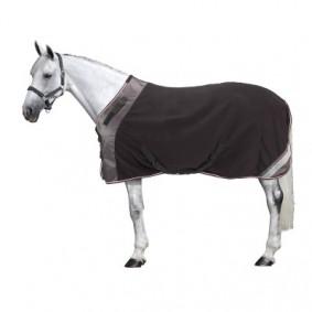Paardendekens - Zomerdekens - kopen - Fleecedeken Polar 800 ruitersport zwart / grijs – pony en paard