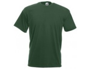 "Paardrijkleding - Shirts - kopen - """"""Fruit of the Loom T-shirt Valueweight, Bottle Green, Maat L ( 5 stuks onbedrukt)"""""""