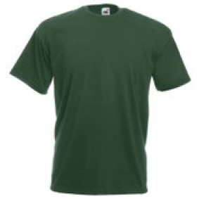 "Paardrijkleding - Shirts - kopen - """"""Fruit of the Loom T-shirt Valueweight, Bottle Green, Maat M ( 5 stuks onbedrukt)"""""""