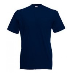 "Paardrijkleding - Shirts - kopen - """"""Fruit of the Loom T-shirt Valueweight, Deep Navy, Maat M ( 5 stuks onbedrukt)"""""""