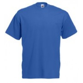 "Paardrijkleding - Shirts - kopen - """"""Fruit of the Loom T-shirt Valueweight, Royal Blue, Maat XXL ( 5 stuks onbedrukt)"""""""