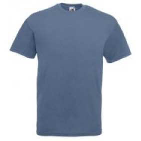"Paardrijkleding - Shirts - kopen - """"""Fruit of the Loom T-shirt Valueweight, Steel Blue, Maat L ( 5 stuks onbedrukt)"""""""