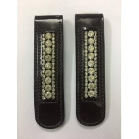 Paardrijlaarzen en -Schoenen - Accessoires Paardrijlaarzen en -Schoenen - kopen - HB Laarzenclips Lakleder met crystal