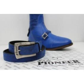 Paardrijkleding - Riemen - kopen - Pioneer Riem Floreal Blue